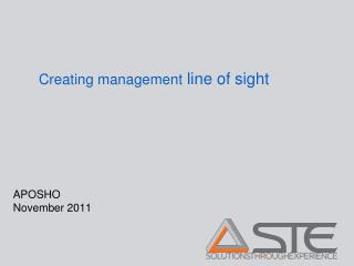 Creating management  line of sight