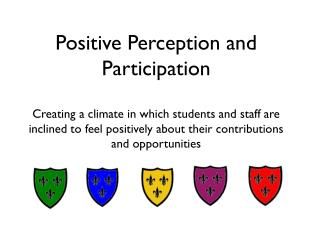 Positive Perception and Participation