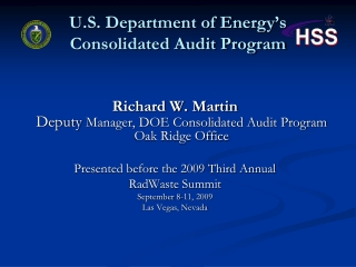U.S. Department of Energy's Consolidated Audit Program