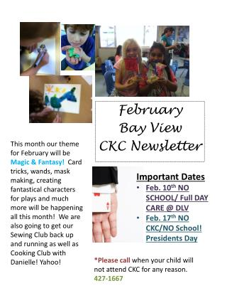 February  Bay View  CKC Newsletter