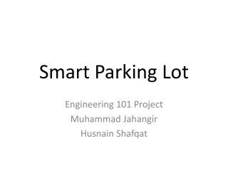 Smart Parking Lot