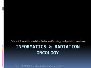 informatics & Radiation Oncology
