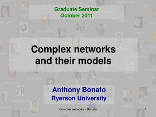 Complex  networks  and  their models