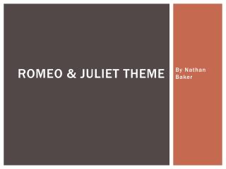 Romeo & Juliet theme