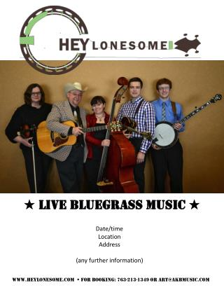 ★ Live Bluegrass Music ★