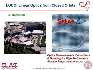 LOCO, Linear Optics from Closed Orbits