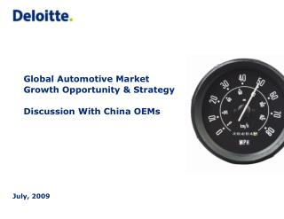 Global Automotive Market Growth Opportunity & Strategy  Discussion With China OEMs