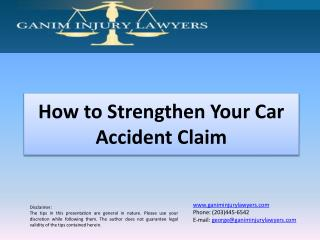 How to Strengthen Your Car Accident Claim