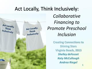 Collaborative  Financing to Promote Preschool Inclusion