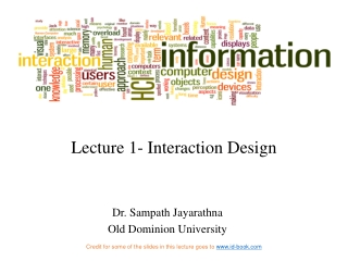 Lecture 1- Interaction Design