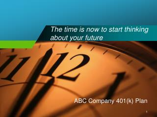 The time is now to start thinking about your future