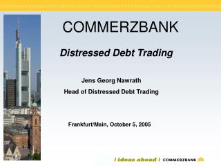 Distressed Debt Trading