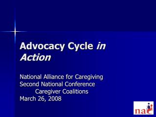 Advocacy Cycle  in Action