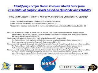 Identifying Loci for Ocean Forecast Model Error from
