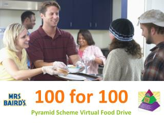 100 for 100 Pyramid Scheme Virtual Food Drive