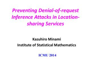 Preventing Denial-of-request Inference Attacks in Location-sharing Services