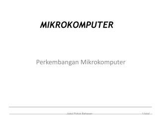 MIKROKOMPUTER