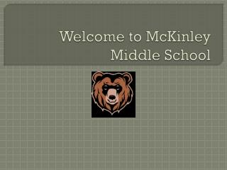 Welcome to McKinley Middle School