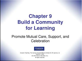 Chapter 9  Build a Community  for Learning
