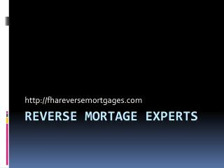 FHA Reverse Mortgage Escondido, CA