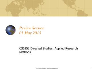 Review Session 03 May  2013