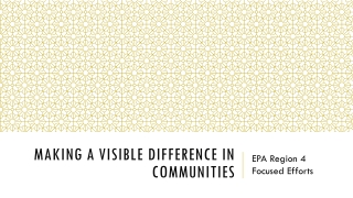 Complying With An Act Concerning Environmental Justice Communities