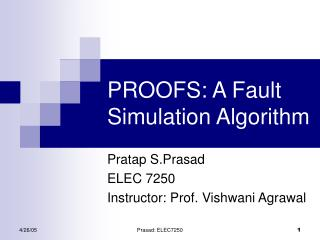 PROOFS: A Fault Simulation Algorithm