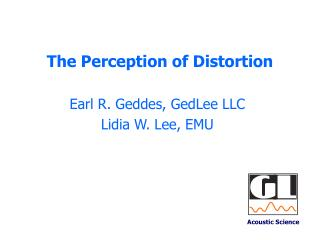 The Perception of Distortion