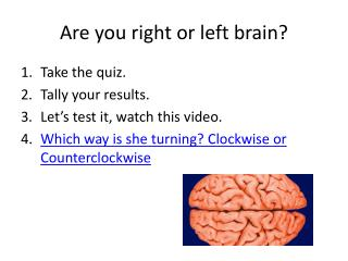 Are you right or left brain?
