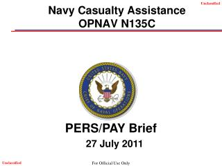 Navy Casualty Assistance OPNAV N135C
