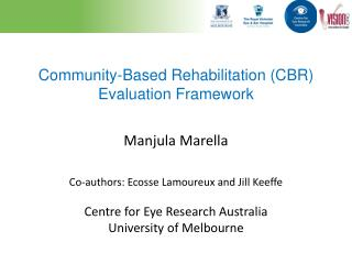Community-Based  Rehabilitation  (CBR) Evaluation Framework