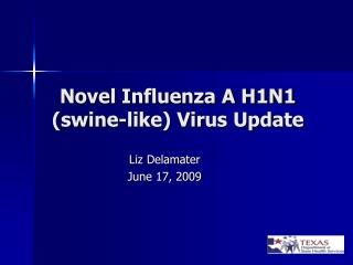 Novel Influenza A H1N1 (swine-like) Virus Update