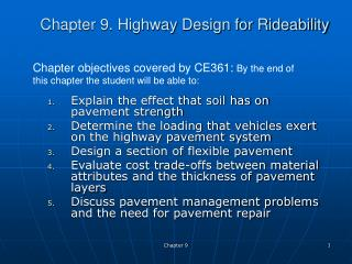 Chapter 9. Highway Design for Rideability