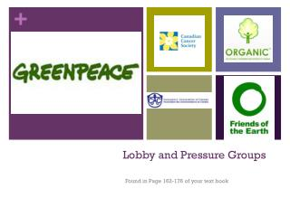 Lobby and Pressure Groups