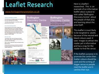 Leaflet Research
