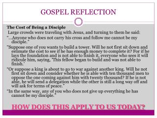 GOSPEL REFLECTION