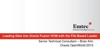 Loading Data into Oracle Fusion HCM with the File-Based Loader