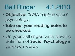Bell Ringer 4.1.2013