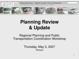 Planning Review & Update
