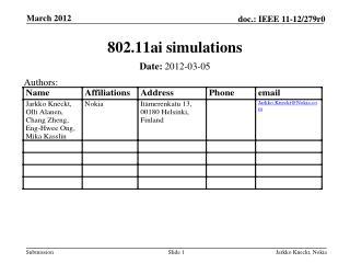 802.11ai simulations