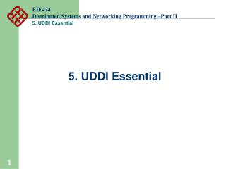 EIE424 Distributed Systems and Networking Programming –Part II