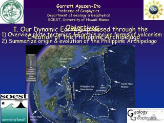 I. Our  Dynamic Earth Expressed through the Creation of the Philippine Archipelago