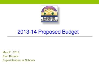 2013-14 Proposed Budget