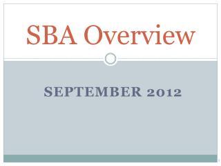 SBA Overview