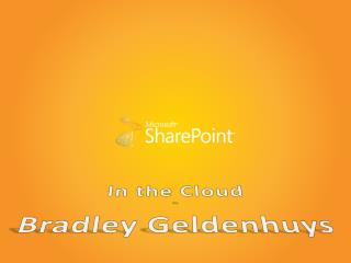 In the Cloud By Bradley Geldenhuys