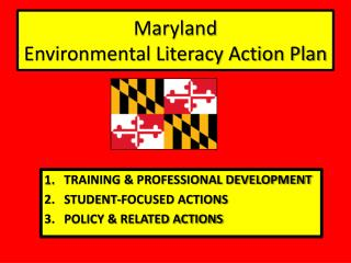 Maryland  Environmental Literacy Action Plan