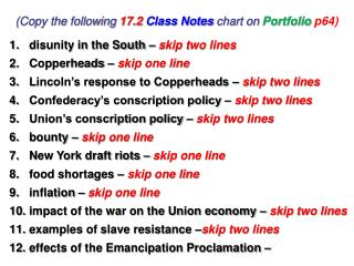 (Copy the following  17.2 Class Notes  chart on  Portfolio  p64)