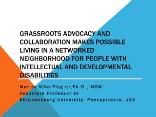 Marita  Nika Flagler,Ph.D .,  MSW Associate Professor at