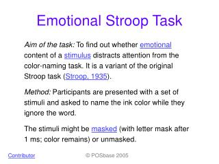 Emotional Stroop Task