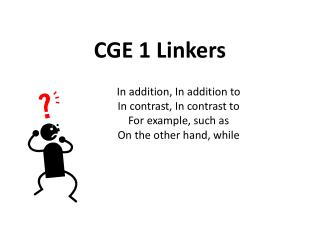 CGE 1 Linkers